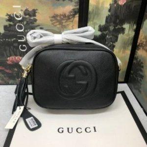 NWT🌞 Gu cci 🌞Soho Small Leather Disco Bag889517